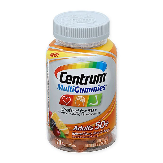 Alternate image 1 for Centrum® 120-Count Adults 50+ Multivitamin Gummies Assorted Flavors