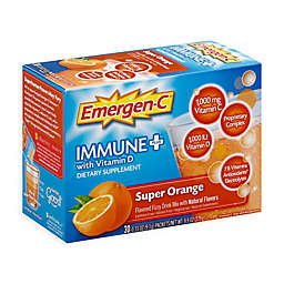Emergen-C Immune+ Vitamin D 30-Count Fizzy Drink Mix Packets in Super Orange