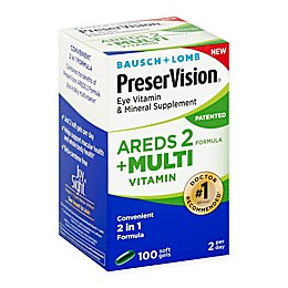 Bausch + Lomb PreserVision® 100-Count AREDS 2 Formula + Multivitamin Soft Gels