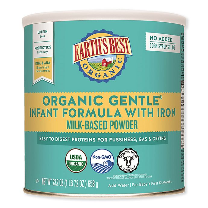 Alternate image 1 for Earth's Best® 23.2 oz. Organic Gentle Infant Formula With Iron Milk-Based Powder