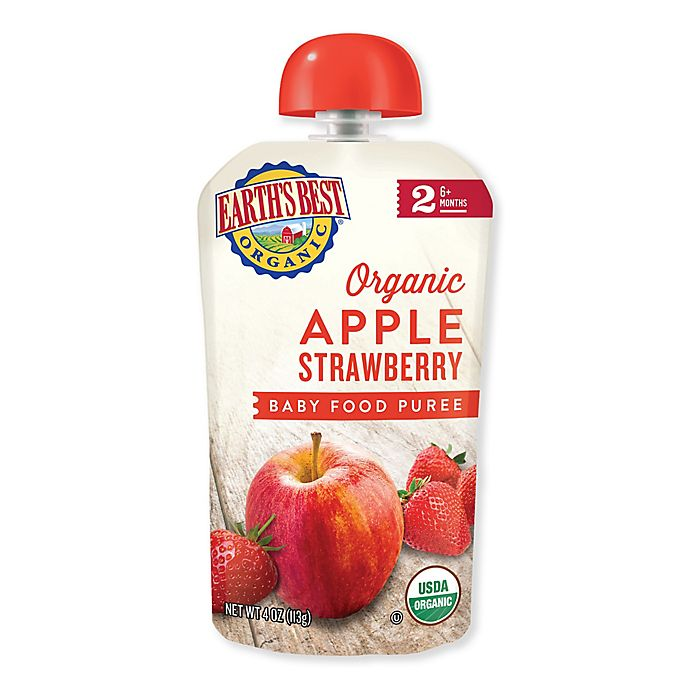 Alternate image 1 for Earth's Best® 4 oz. Organic Stage 2 Apple Strawberry Baby Food