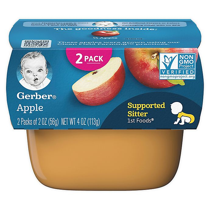 Alternate image 1 for Gerber® 2-Pack 1st Foods Apple Baby Food Tubs