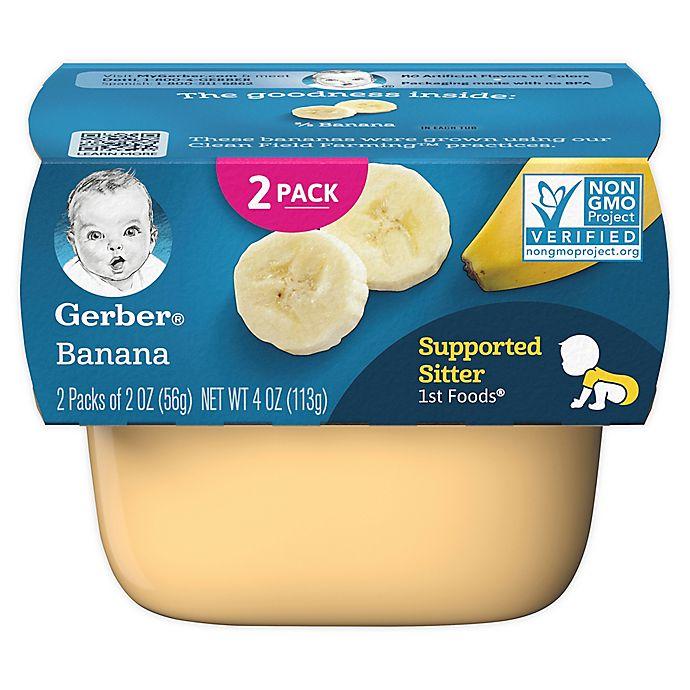 Alternate image 1 for Gerber® 2-Pack 2 oz. 1st Foods Banana Baby Food Tub