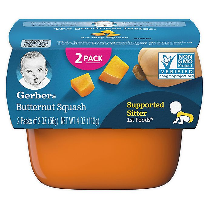 Alternate image 1 for Gerber® 2-Pack 2 oz. 1st Foods Butternut Squash Baby Food Tubs