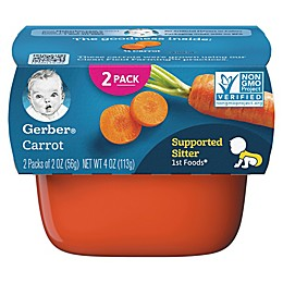 Gerber® 2-Pack 2 oz.1st Foods Carrot Baby Food Tubs