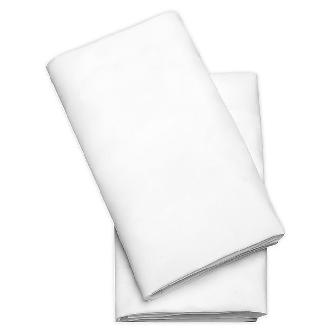 Alternate image 1 for Chicco LullaGo® Bassinet 2-Pack Polyester Fitted Sheets in White