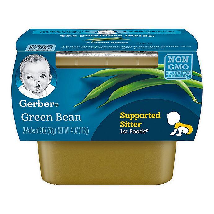 Alternate image 1 for Gerber® 2-Pack 2 oz. 1st Foods Green Bean Baby Food Tubs