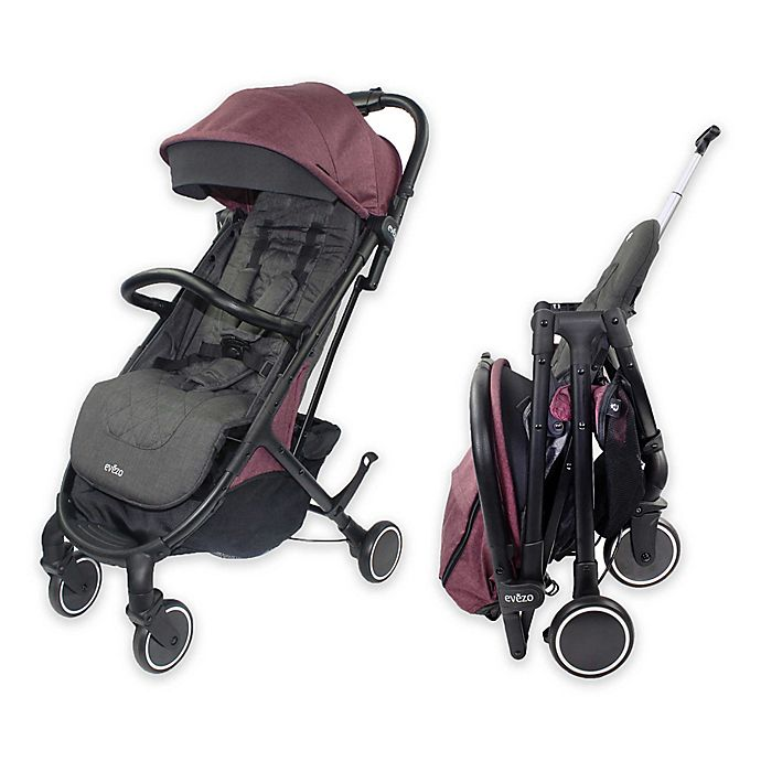 Alternate image 1 for Evezo Channy Single Lightweight Stroller