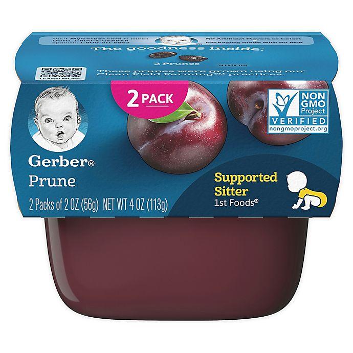 Alternate image 1 for Gerber® 2-Pack 2 oz. 1st Foods Prune Baby Food Tubs