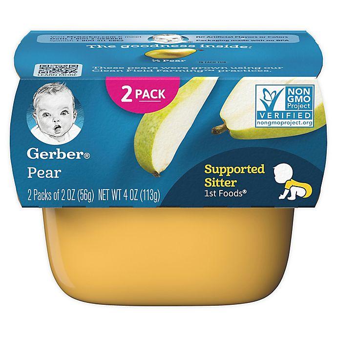 Alternate image 1 for Gerber® 2-Pack 2 oz. 1st Foods Pear Baby Food Tubs