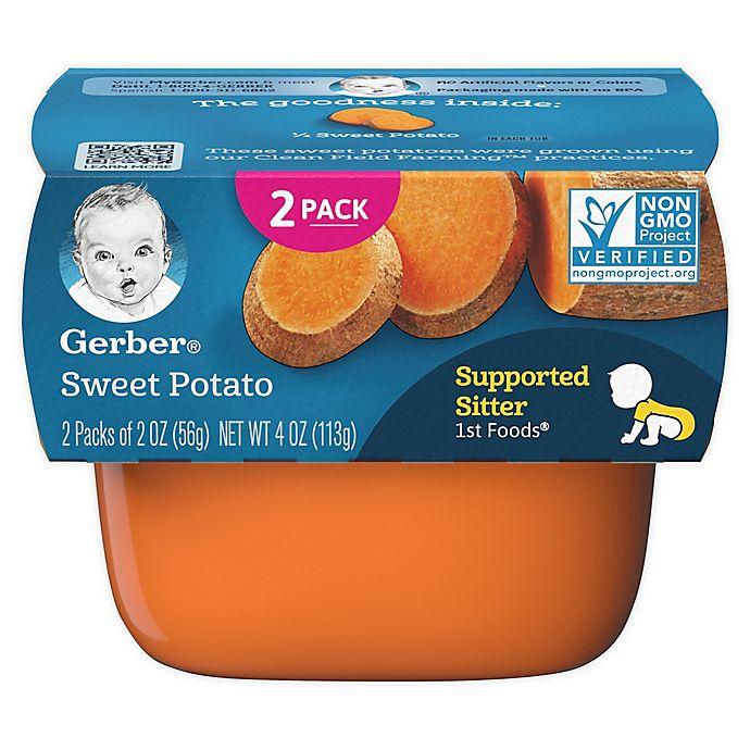 Alternate image 1 for Gerber® 2-Pack 2 oz. 1st Foods Sweet Potato Food Tubs