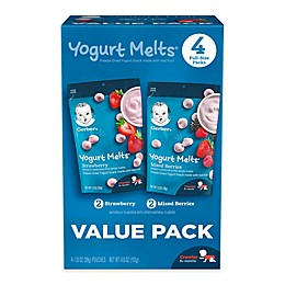 Gerbers® Yogurt Melts® 4-Pack Freeze-Dried Yogurt Snacks in Strawberry and Mixed Berry