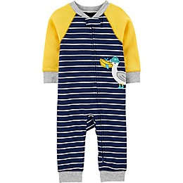 carter's® Pelican 2-Way Zip Sleep & Play Pajama in Blue/Yellow