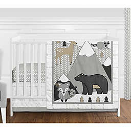 Sweet Jojo Designs Woodland Friends 4-Piece Crib Bedding Set in Beige/Grey