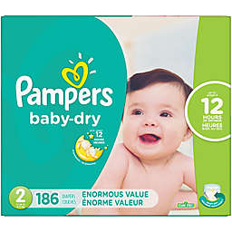 Pampers® Baby Dry™ 186-Count Size 2 Pack Disposable Diapers