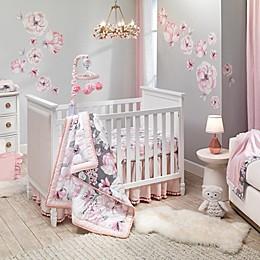 Lambs & Ivy® Botanical Baby 4-Piece Crib Bedding Set in Pink/Grey