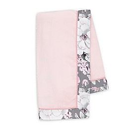 Lambs & Ivy® Botanical Baby Stroller Blanket in Pink/Grey