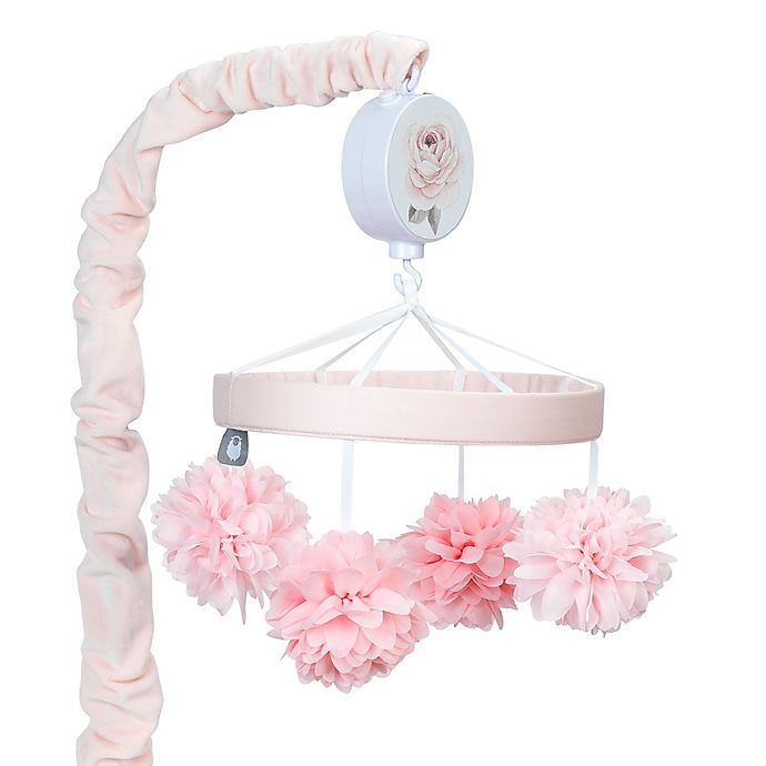 Alternate image 1 for Lambs & Ivy® Botanical Baby Musical Mobile in Pink