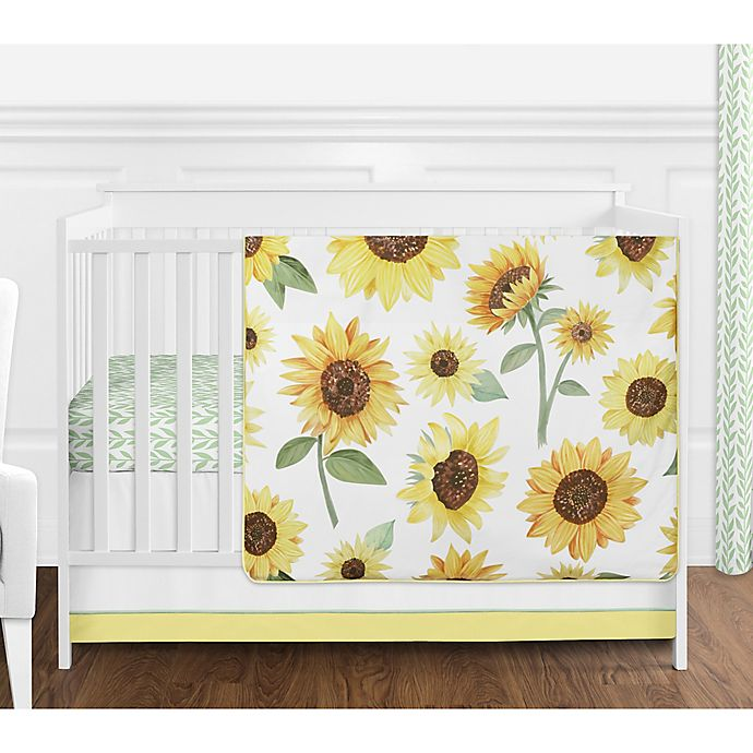Alternate image 1 for Sweet Jojo Designs Sunflower Crib Bedding Collection in Yellow/Green