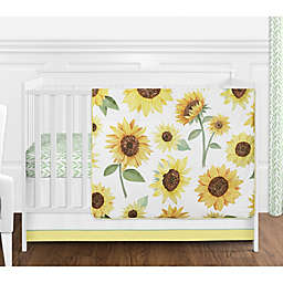 Sweet Jojo Designs Sunflower 4-Piece Crib Bedding Set in Yellow/Green