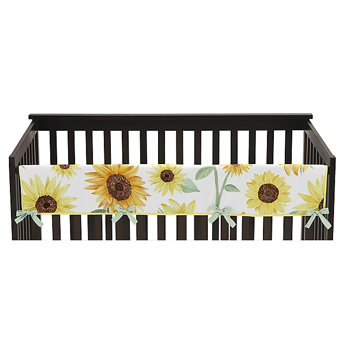 Alternate image 1 for Sweet Jojo Designs Sunflower Rail Guard in Yellow/Green