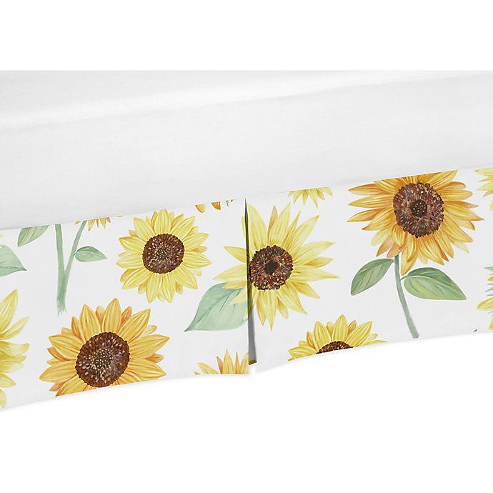 Sweet Jojo Designs Sunflower Crib Skirt, Sunflower Crib Bedding