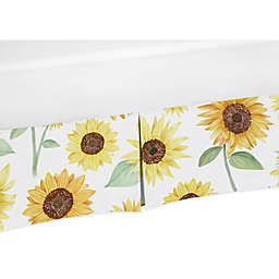 Sweet Jojo Designs Sunflower Crib Skirt in Yellow/Green