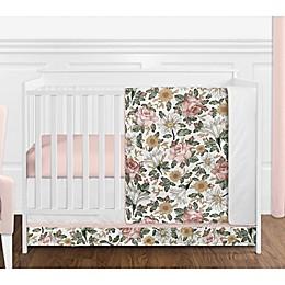 Sweet Jojo Designs Vintage Floral 4-Piece Crib Bedding Set in Pink/Green