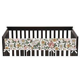 Sweet Jojo Designs Vintage Floral Crib Rail Guard in Pink/Green