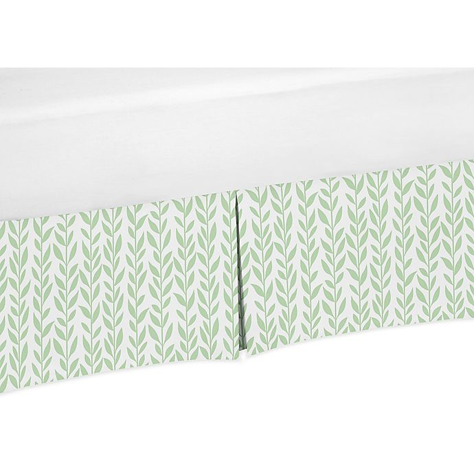 Sweet Jojo Designs Vines Crib Skirt In Green White Buybuy Baby