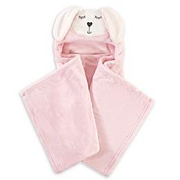 Hudson Baby Modern Bunny Wearable Hooded Blanket in Pink