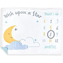 Hudson Baby Wish Upon a Star Milestone Baby Blanket in Yellow