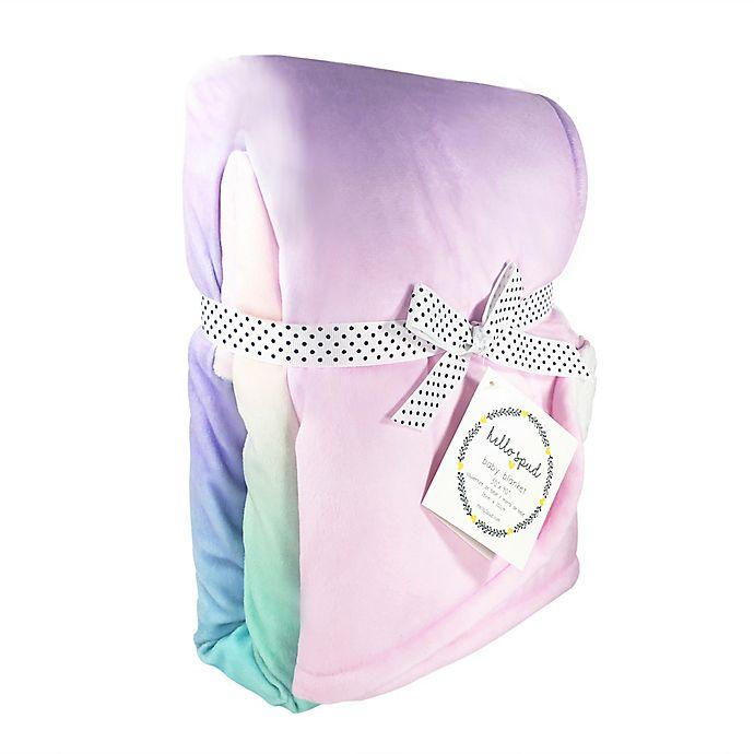 Alternate image 1 for Hello Spud Ombre Plush Stroller Blanket in Rainbow
