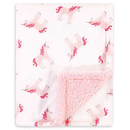 Hudson Baby Polyester Toddler Blanket in Pink