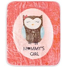 Hudson Baby Mommys Girl Polyester Toddler Blanket in Pink