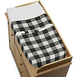 SWEET JOJO DESIGNS Farmhouse Changing Pad Cover in Black/White