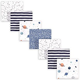 hudson baby 7-Pack Space Recieving Blanket in Blue