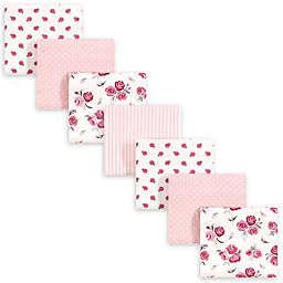 hudson baby 7-Pack Rose Recieving Blanket in Pink