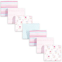 hudson baby 7-Pack Llama Cotton Blanket in Pink