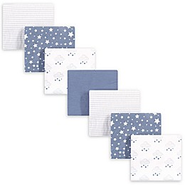 hudson baby 7-Pack Starry Cotton Receiving Blanket in Blue