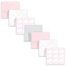 hudson baby 7-Pack Cotton Receiving Blanket in Pink