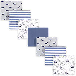 hudson baby 7-Pack Sailboat Cotton Receiving Blanket in Blue