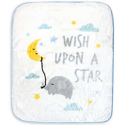 Hudson Baby Wish Upon a Star Milestone Baby Blanket in Blue