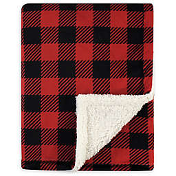 Hudson Baby Buffalo Plaid Toddler Blanket in Red