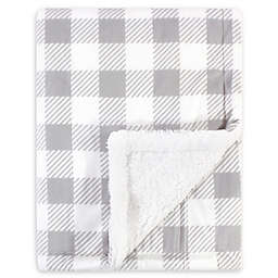 Hudson Baby Mink Toddler Blanket in Grey/Plaid
