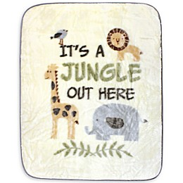 Hudson Baby Jungle Out Here Toddler Blanket in Cream