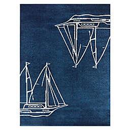 Marina Woven Area Rug in Blue