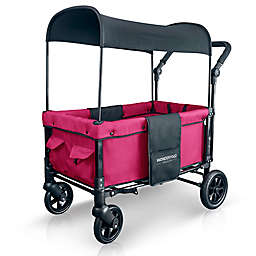 WonderFold Wagon W1 Double Folding Stroller Wagon in Fuchsia Pink