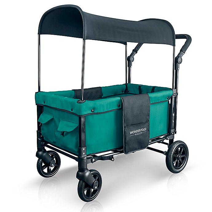 Alternate image 1 for WonderFold Wagon W1 Double Folding Stroller Wagon in Teal Green