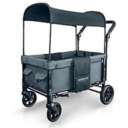 WonderFold Wagon W1 Double Folding Stroller Wagon in Smoky Grey